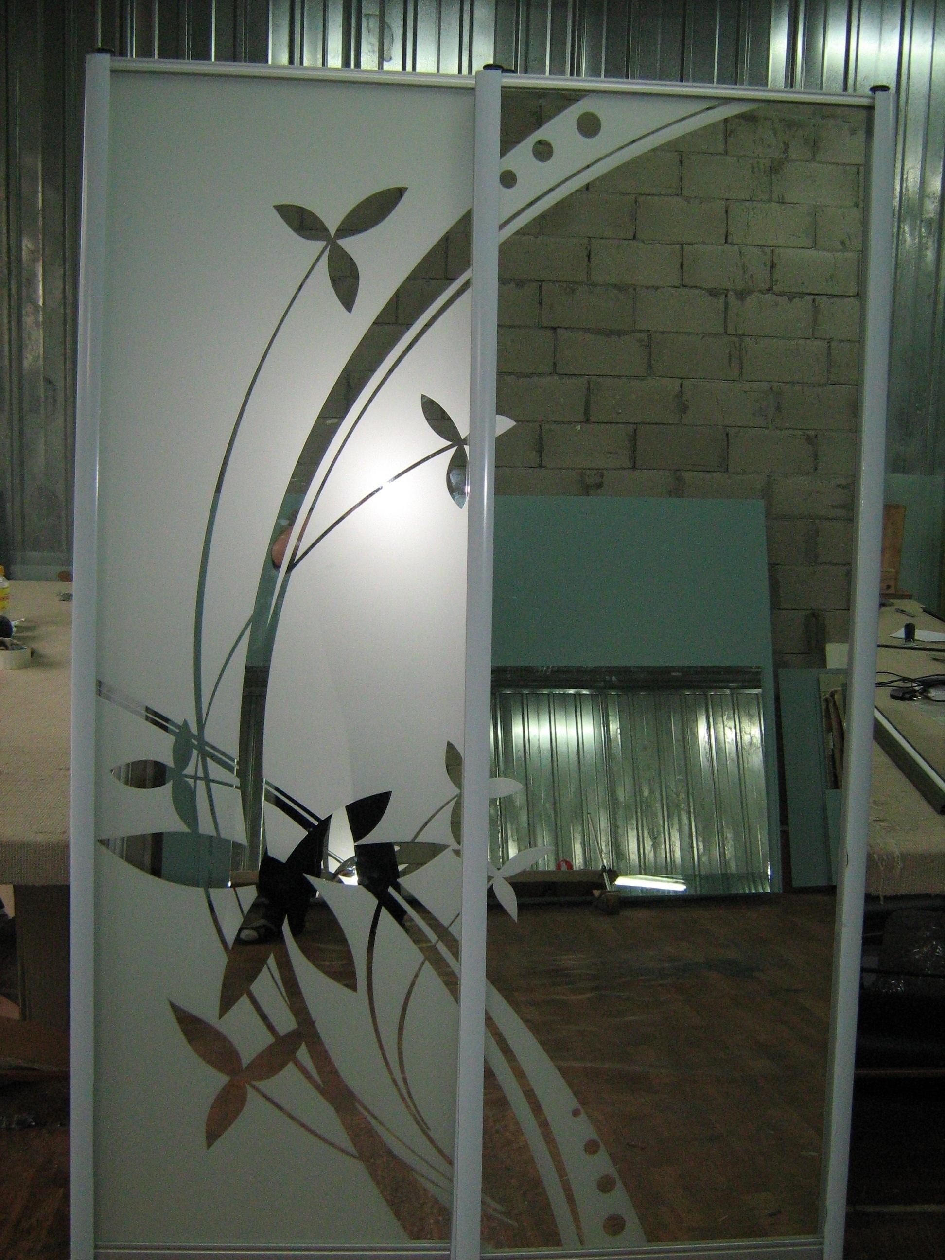 Пескоструйные зеркала цветы фото